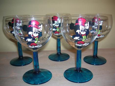 Verres mickey cadeau pour bapteme parrain marraine - Decoration mickey pour bapteme ...