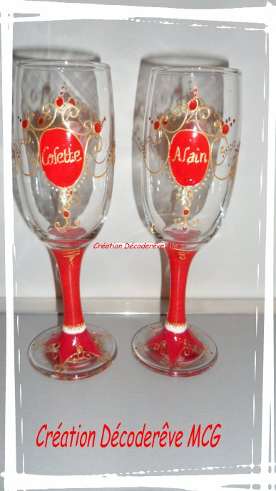 SERIE DE COUPE A CHAMPAGNE SPECIAL NOEL OU MARIAGE