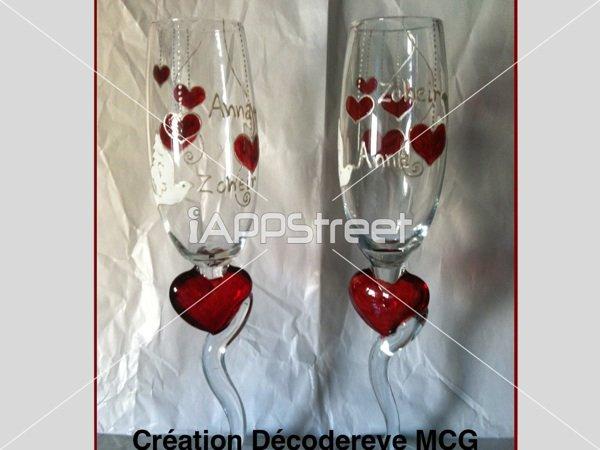 Coupes à champagne spécial mariage