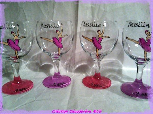 Série de verre à vin spécial anniversaire