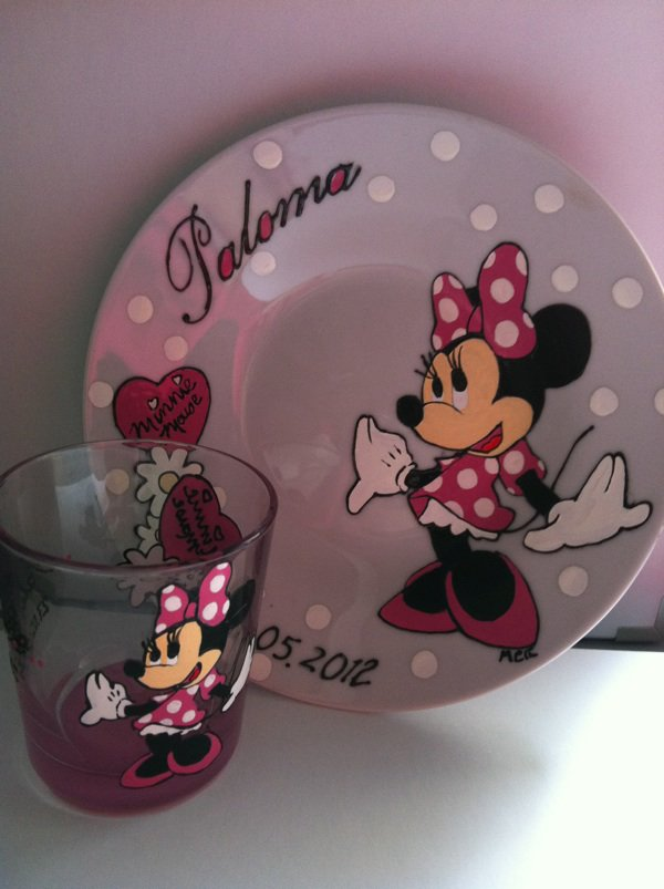Assiette + verre assorti  minnie
