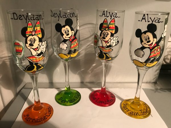 Thème Mickey minnie tenue en Madras