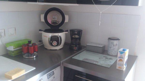 Ma cuisine avec le carrelage mural posé :)
