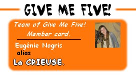 CARTE GIVE ME FIVE.