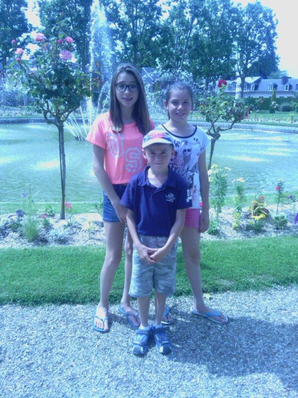 Mes enfants au Jardin Public à Lisieux