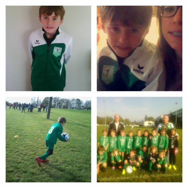 Mon fils Romain joue au foot et il est content ♥