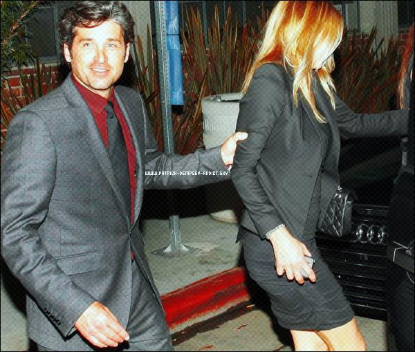 """. Patrick, 10/12/10 : .  Patrick a été vu dans Beverly Hills à la sortie de la """" Michael Bay's Christmas party """", il été accompagnée de sa femme. La classe Patrick en toutte circonstance.!. Newsletter    Autres Blogs ♥  ♥ ♥  ♥  Pix"""