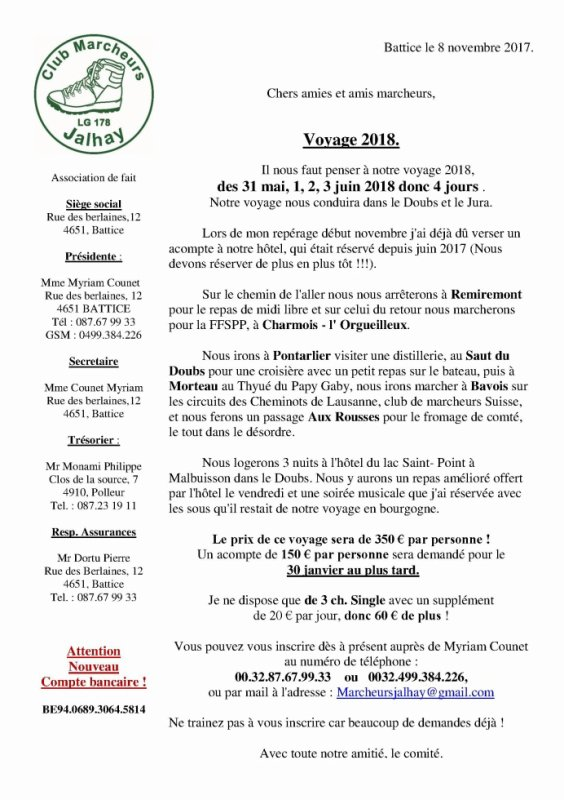 Voyage 2018 dans Le Doubs !