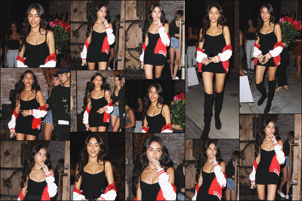- 09/07/2017 : Madison B. a été aperçue quittant le restaurant asiatique « TAO » à Hollywood, en Californie. Madison B. était accompagné par des amies. Madison Beer portait une robe noir, une paire de bottes noir ainsi qu'une veste. -