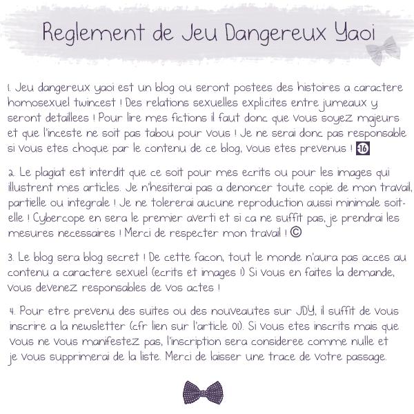 #02 Règlement du blog, merci de le respecter !