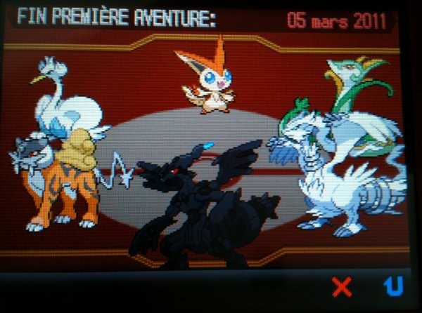 Pokémon version Blanche Finie !