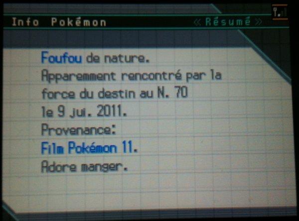 Pokémon Event Japonnais de cette été en Wi.Fi