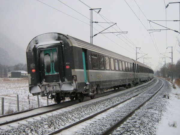 Convoi Corail dans la neige