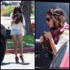 5 Août : Selena devant le restaurant BJ's Brewery à Woodland Hills