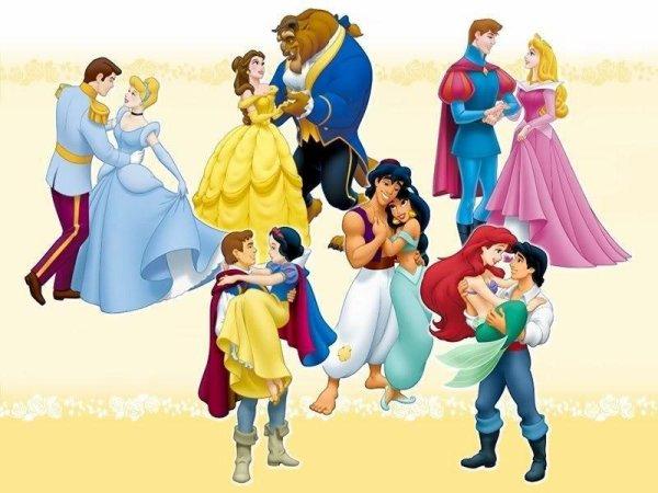 Princesse et prince disney mes go ts - Prince et princesse disney ...