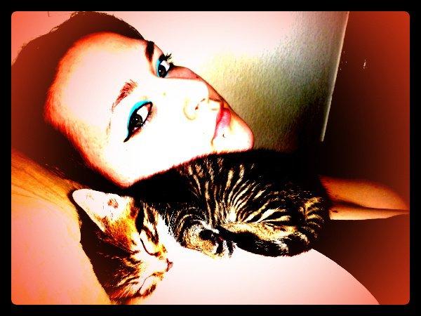 moi et le chaton de mon fils