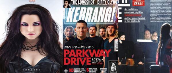 ↓ Dans le nouveau Kerrang! il y a un poster d'Amy (photo à gauche) ainsi qu'une review d'un concert (photo à droite).