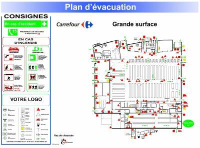 plan d 39 vacuation cuer audit signalisation. Black Bedroom Furniture Sets. Home Design Ideas