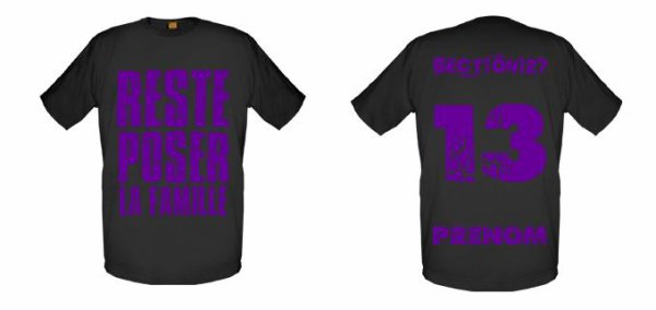 Tee-Shirts  Noir  -- Parti 3