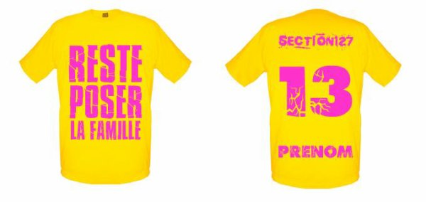 Tee-Shirts  Jaune -- Parti 1