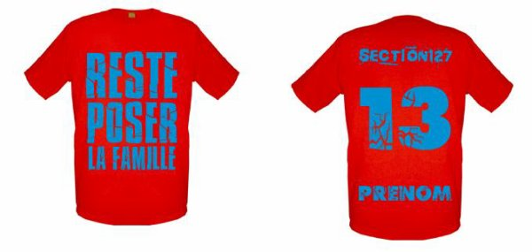 Tee-Shirts  Rouge -- Parti 1