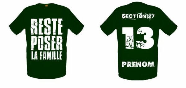 Tee-Shirts  Vert Kaki -- Parti 1