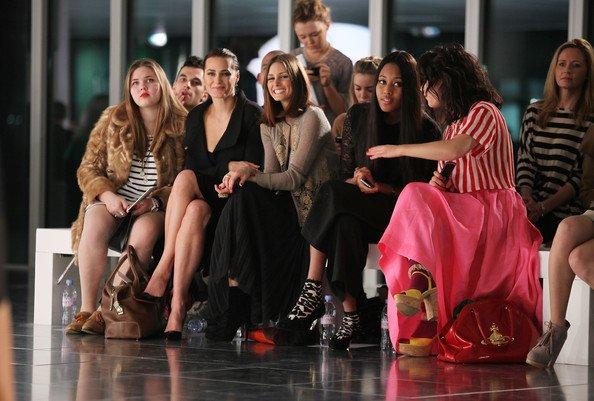 """Mademoiselle Palermo assitant au défilé """"Jonathan Saunders"""" lors de la fashion week."""