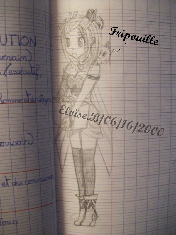 dessin réaliser dans le cahier d'H-G