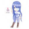 chibi au cheveux bleu
