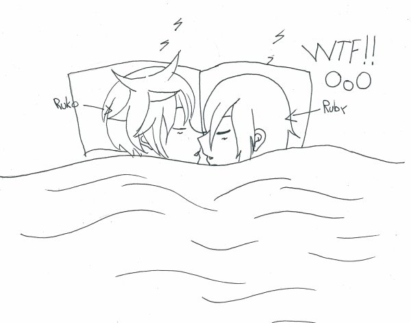 Quand je vous disais que Ruko dormait avec sa soeur ToT ........et bah c'est prouvé ;)