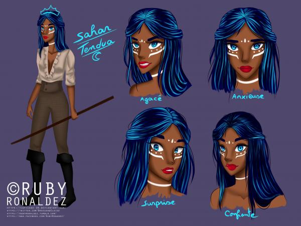 character design Sahar TENDUA