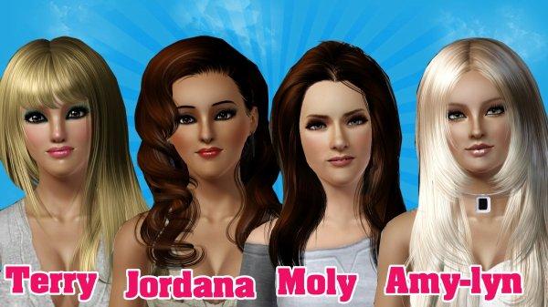 Les 4 filles de cette 4e edition de Secret Sims Story !