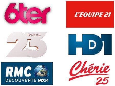 Les 6 nouvelles chaînes