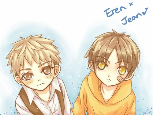 Eren et Jean enfants trop choux ! :3