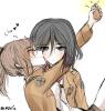 Mikasa et Sasha