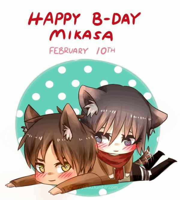 joyeux anniversaire mikasa <3