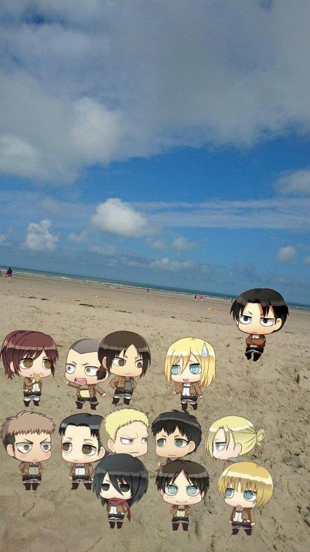 J'ai été à la plage et ils m'ont suivit -w-