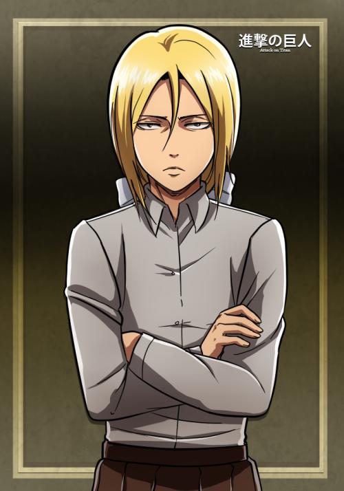 Levi a voulut se mettre en blond et en jupe apparement  XD