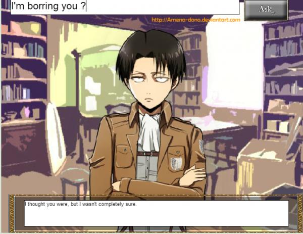 Levi/Rivaille -Shingeki no Kyojin chat bot (2)