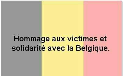 Soutiens à la Belgique !!