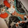 Créatures mythique japonaise Le  Bakeneko (化け猫] et Le  Nekomata (猫又)