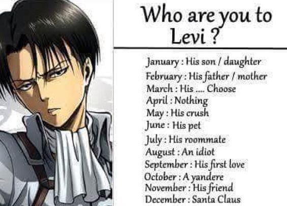 Qui êtes vous pour Levi ?