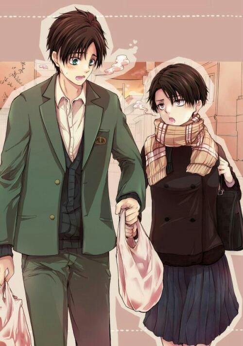 Il est Kawaii comme ça avec Eren en mode petit ami parfait  *~*