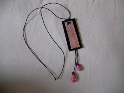 collier estampe japonaise