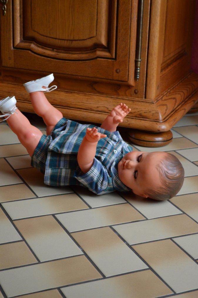 aujourd'hui colin apprend à marcher !!!!