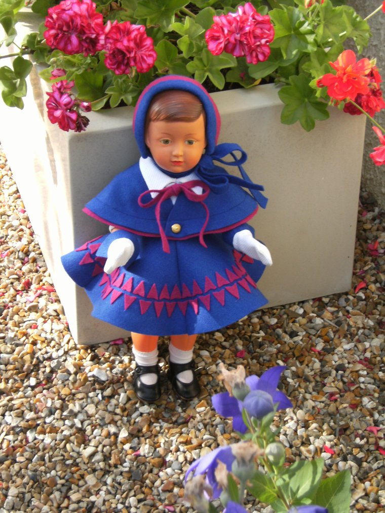 Françoise en tenue de marraine  !!