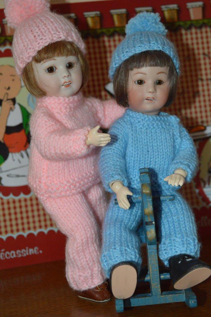 Loulotte et louloutte sont prêtes pour aller jouer dans la neige !!
