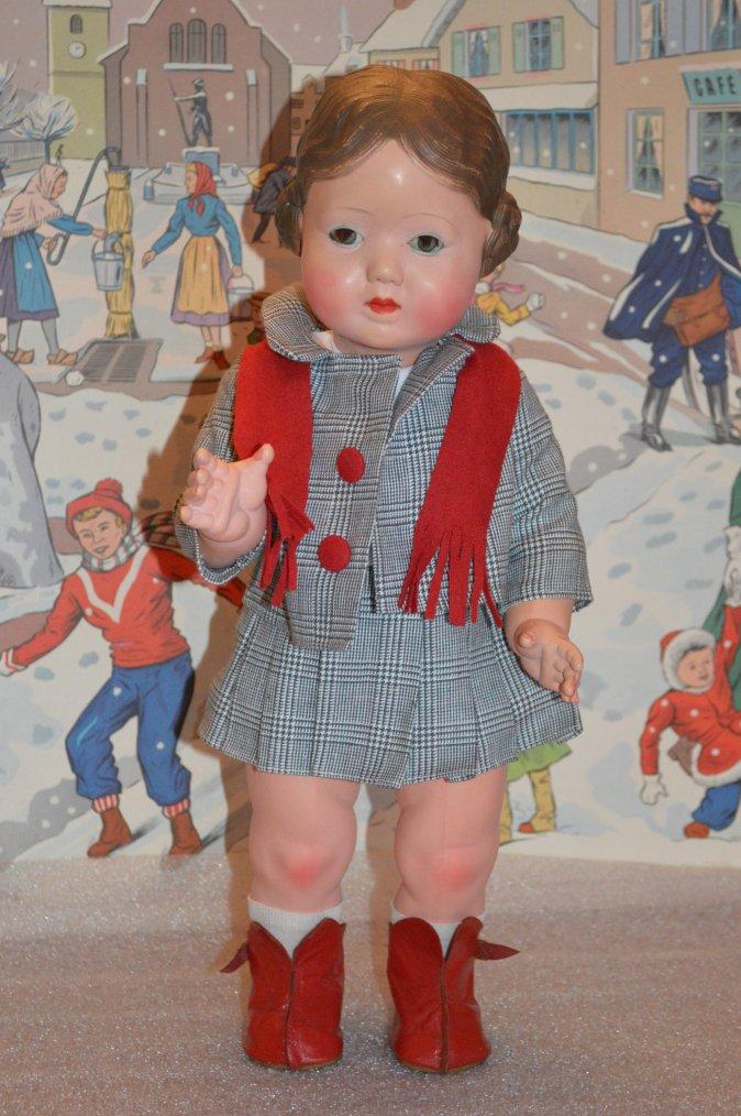 Une poupée non répertoriée d'après la regrettée Madame Chauveau  !!
