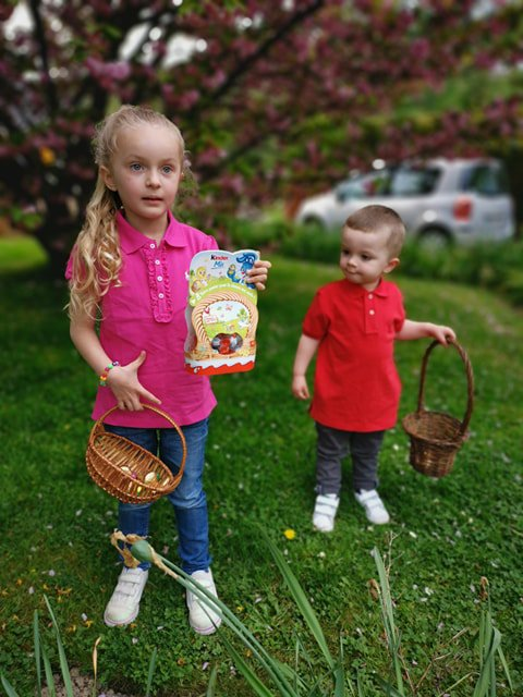 La chasse aux oeufs de Pâques !!!!