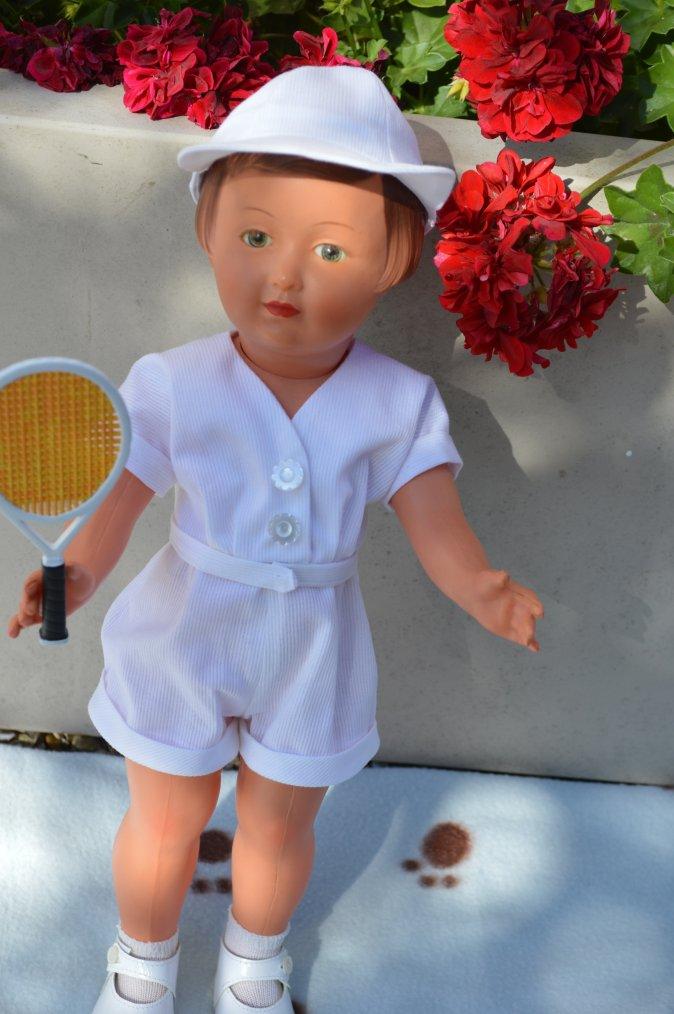 suite de mes coutures  , la tenue de tennis de Françoise